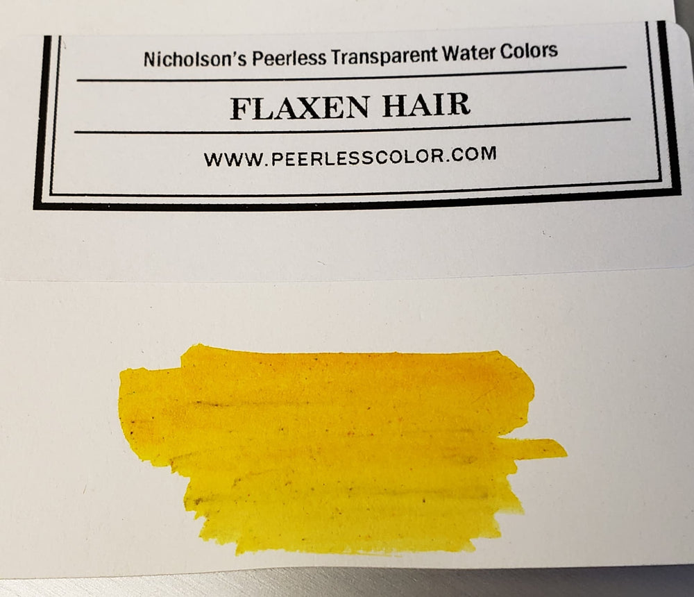 Flaxen Hair - Dry Peerless Water Color - Single Sheet