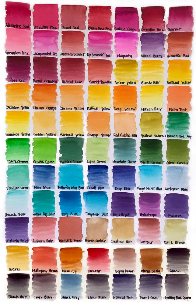 Peerless Brilliant Liquid Watercolors - Blacks/Greys
