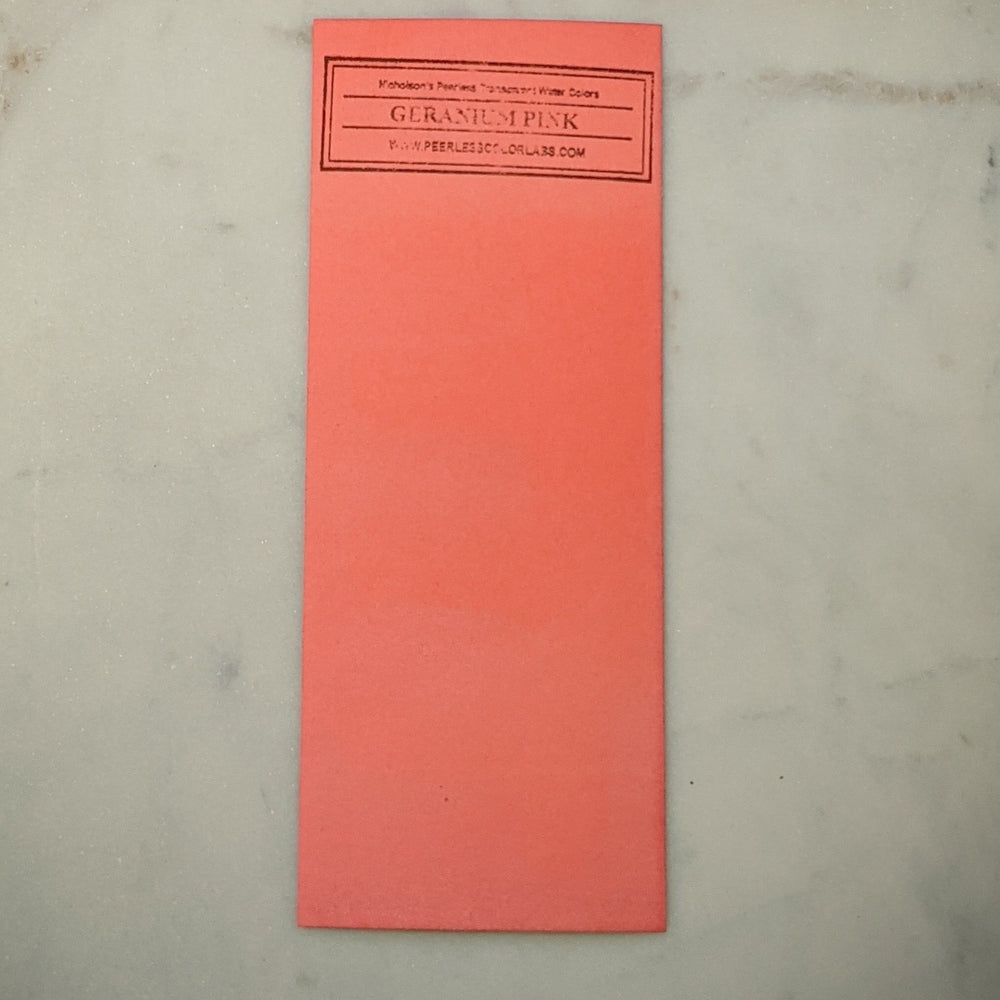Geranium Pink - Dry Peerless Water Color - Single Sheet