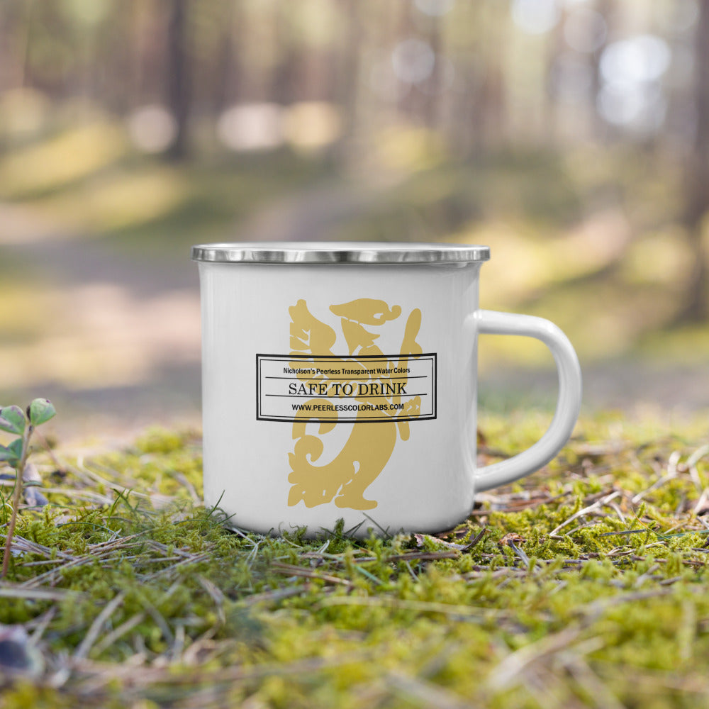"""Safe To Drink"" Enamel Mug"