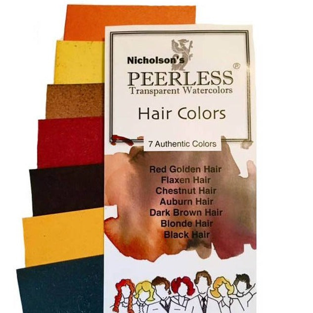 Peerless Watercolors - 7 Hair Colors - Vintage Recipe