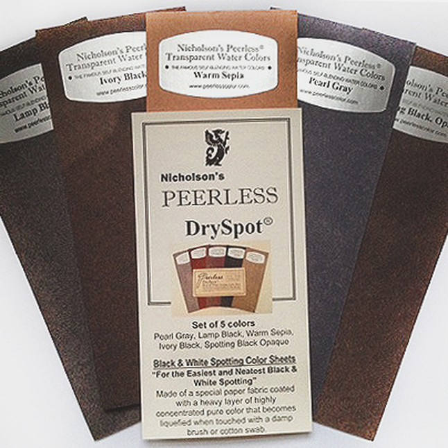 Peerless Watercolors - Dry Spot - Set of 5 Spotting Colors - Blacks