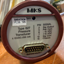 Load image into Gallery viewer, MKS Baraton 627 Pressure Transducer 0.1 Torr