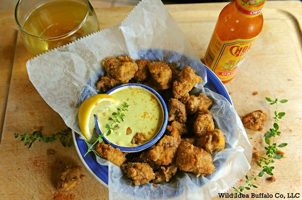 "Prairie Oysters ""Buffalo Bull Fries"" with Herb Lemon Aioli"