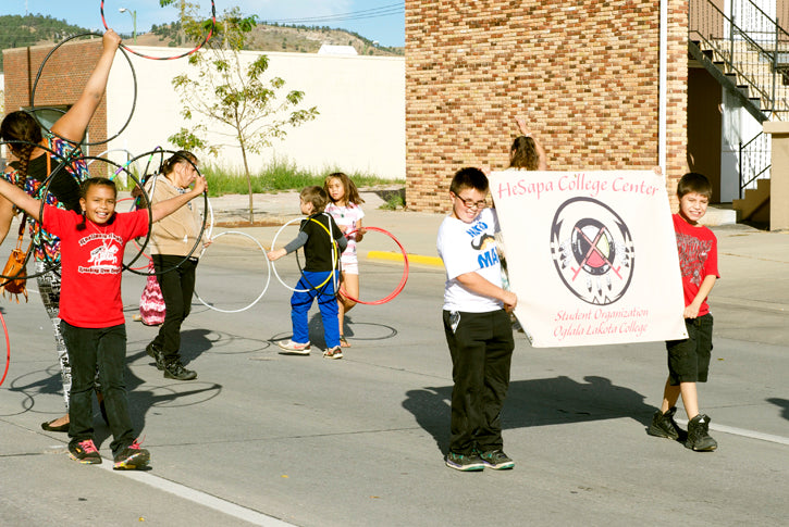 Children with Hoops