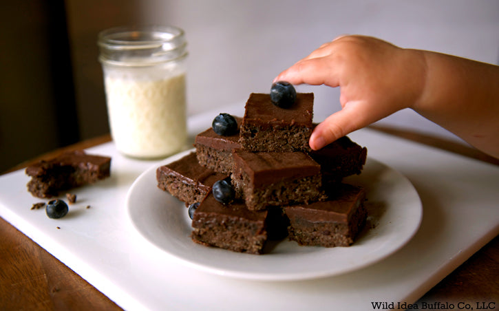 Chocolate Buffalo Meat Brownies