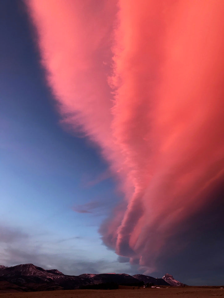 Pink clouds over Rocky Mountain Front
