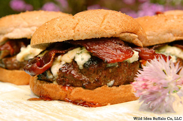 Red White & Blue Buffalo Bacon Burgers