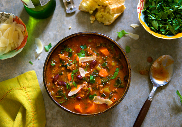 bison minestrone soup
