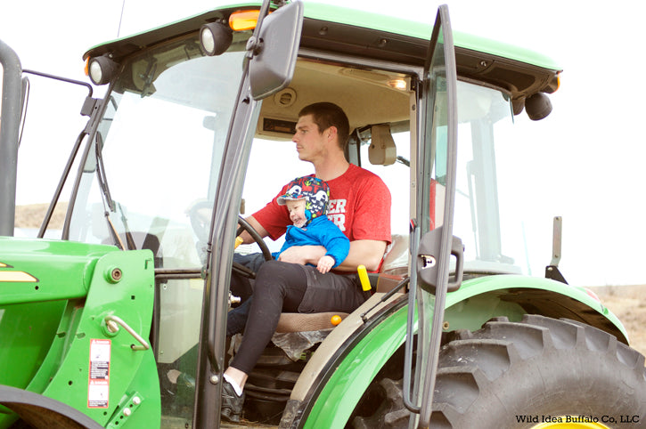 Father & Son in Tractor