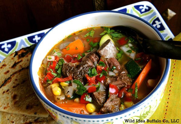 Caldo de Bisonte (Bison Soup) Recipe