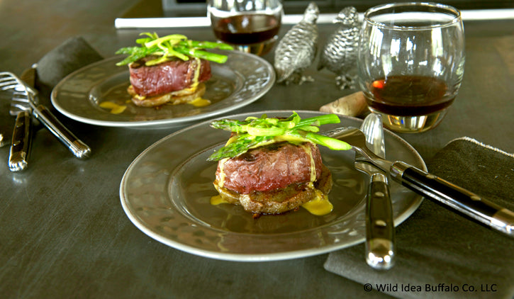 Grilled Buffalo Steak Tournedos with Bearnaise Sauce