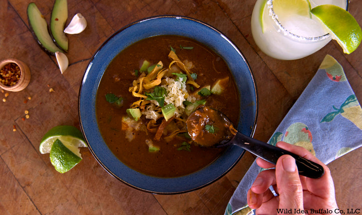Tortilla Soup, Pulled Buffalo Meat
