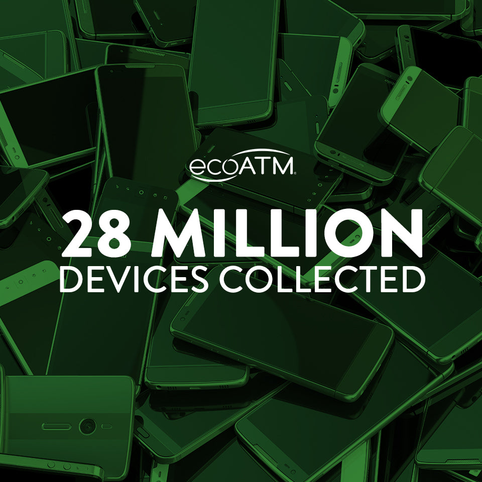 ecoatm has collected 28 million devices
