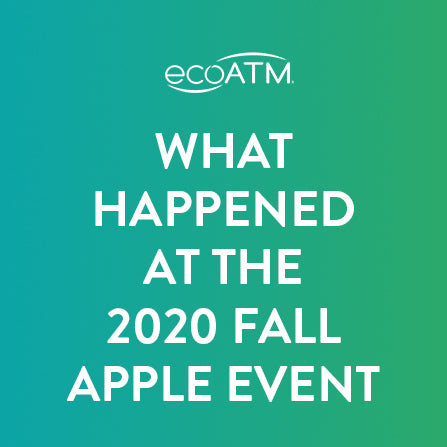what happend at the 2020 fall apple event