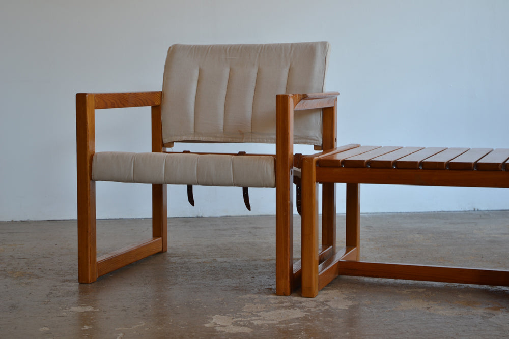 Pair of Diana Chairs and Side Table by Karin Mobring