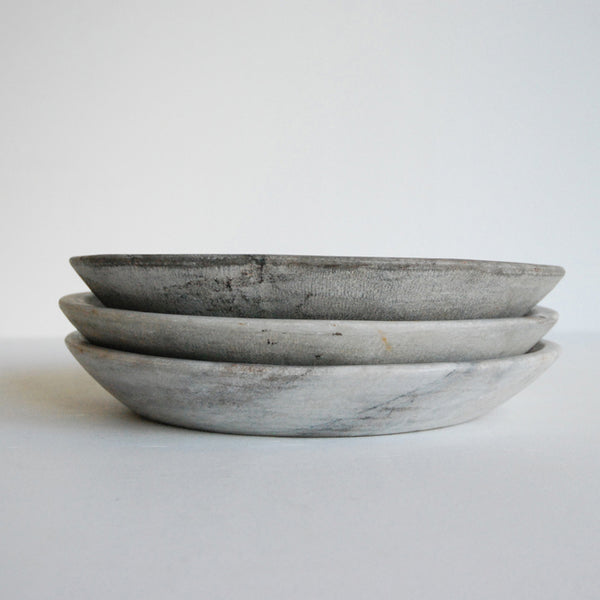Large Raw Marble Bowl