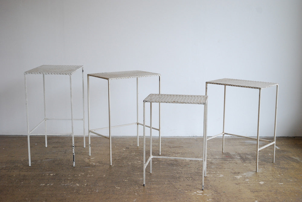 Nest of 5 Pierced Metal Tables
