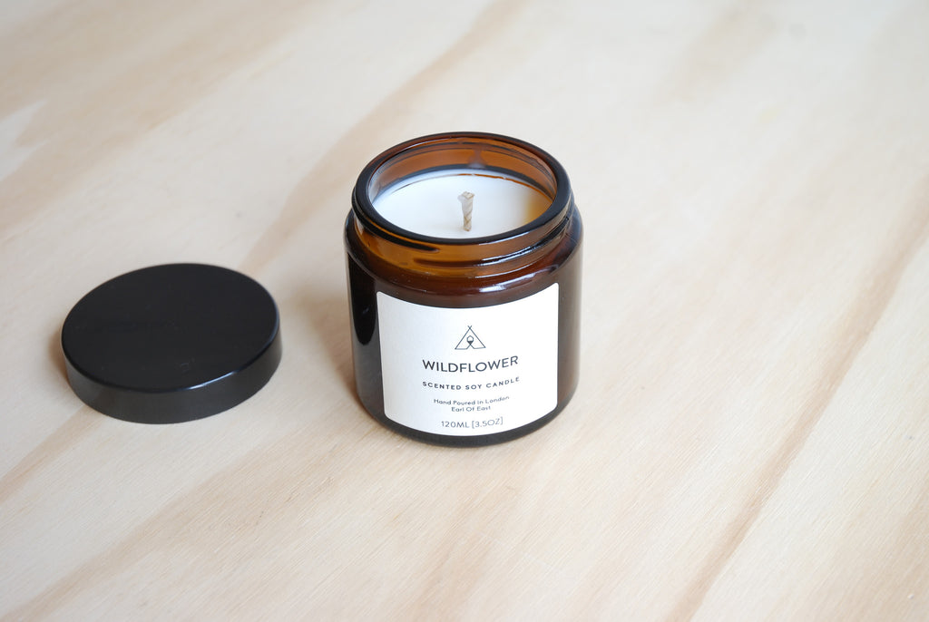 Earl Of East London Scented Soy Candle 3.5 oz - Wildfower