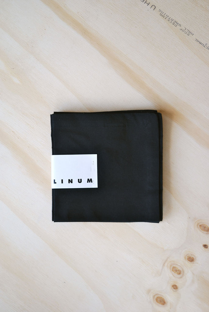 Linum Robert Napkin Set, Black