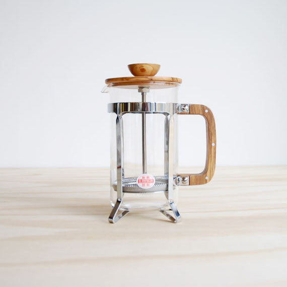 Olive Wood Coffee Press