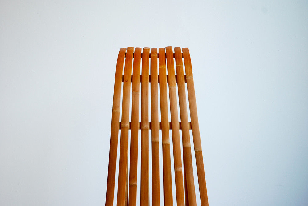 Slatted Bamboo Chair