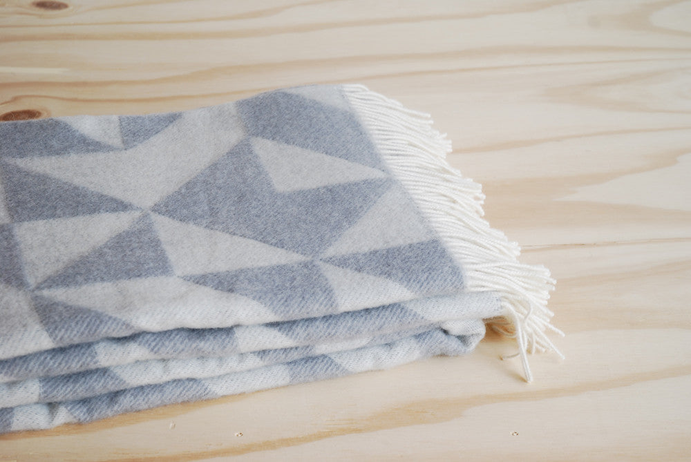 Tina Ratzer Throw/Blanket - Light Grey