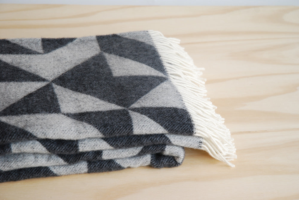 Tina Ratzer Throw/Blanket - Grey