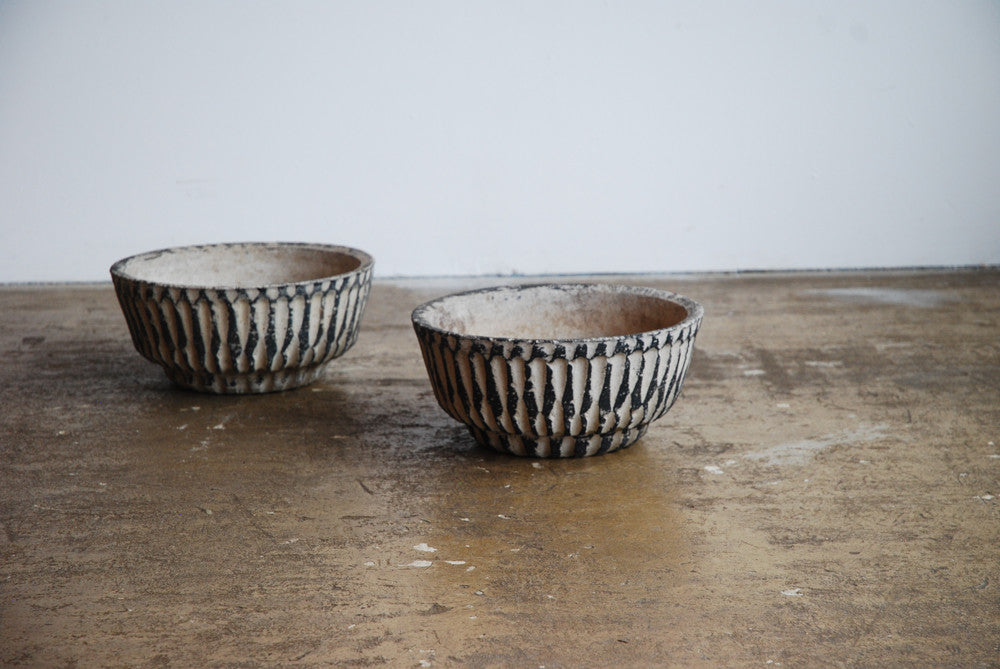 Pair of Bowl Planters Dia 30