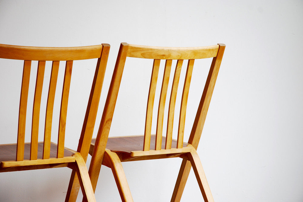 Stacking Mixed Wood Chairs