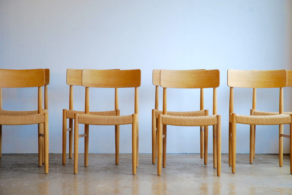 Set of 8 Danish Oak Dining Chairs