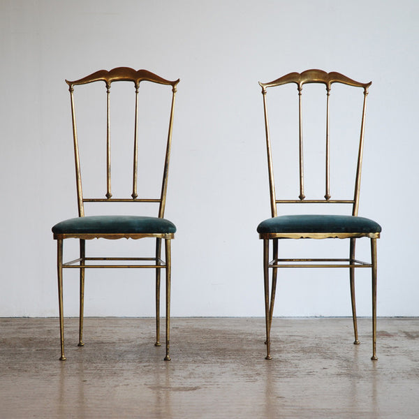 Brass Chairs after Chiavari