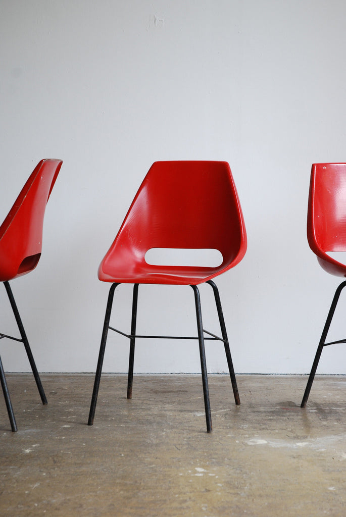 Set of Red Vertex Chairs