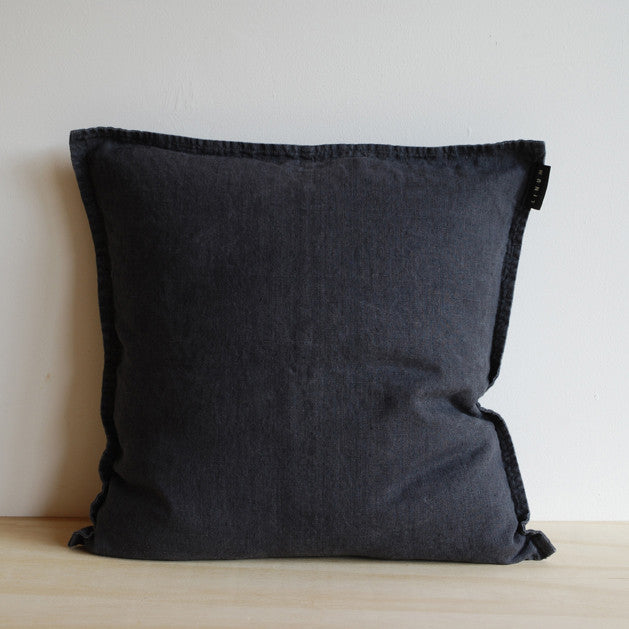 Linum West Cushion Charcoal