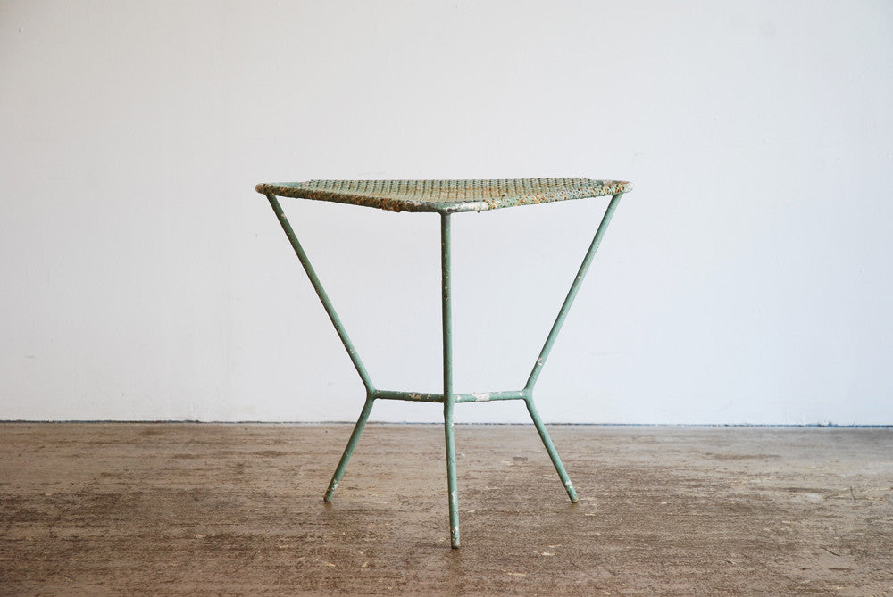 Pierced Metal Side Table