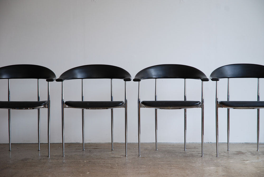 Set of 4 Giancarlo Vegni P70 chairs for Fasem