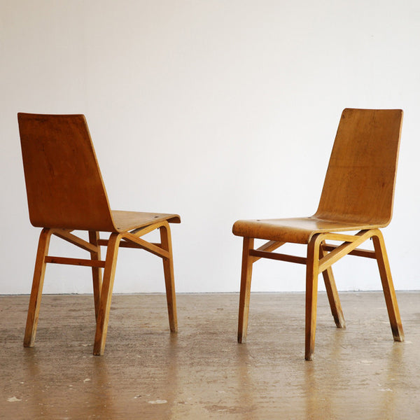 Set of 6 Bent Ply Chairs