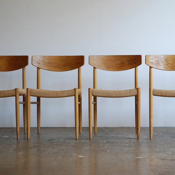 Set of 6 AM Denmark Oak Dining Chairs