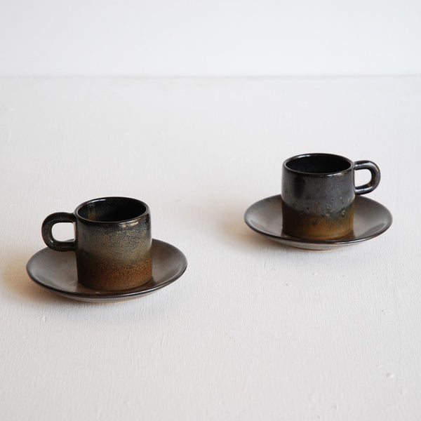 Duo of Studio Cup & Saucers