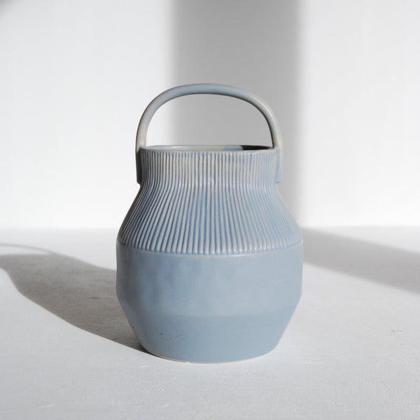 Epoch Vase With Handle Blue