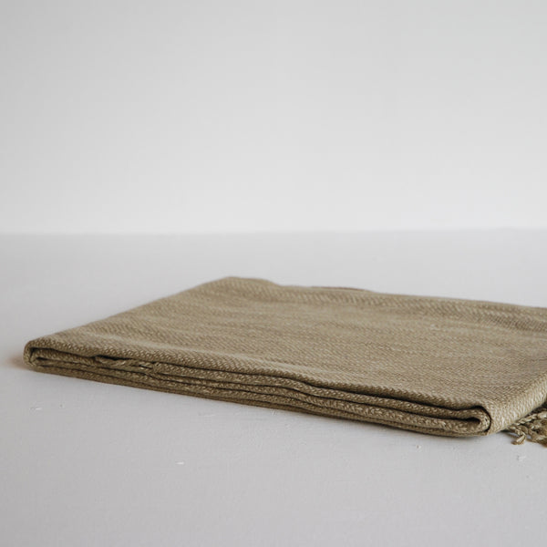 Linum Channel Throw Camel