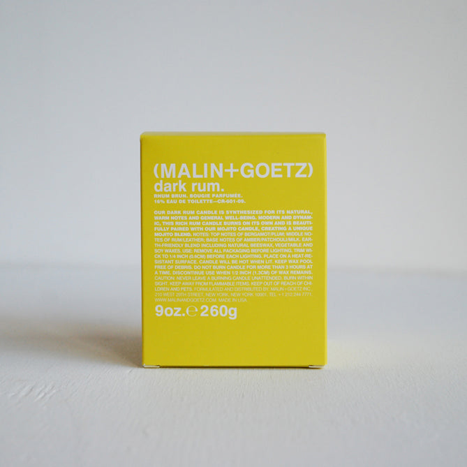 Malin + Goetz Candle Dark Rum