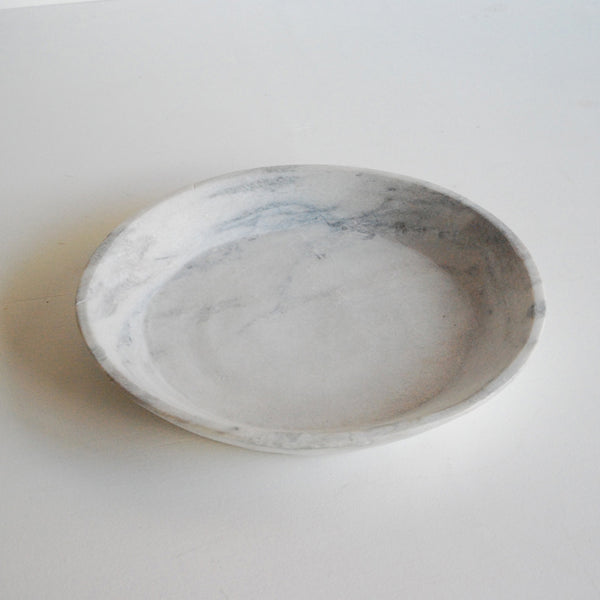 Very Large Raw Marble Bowl