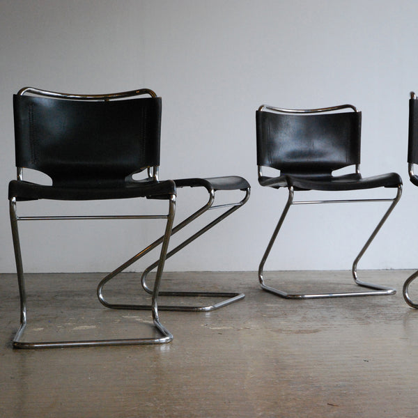 Set of 4 Biscia Chairs by Pascal Mourgue