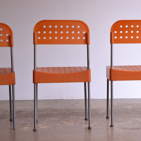 Set of 4 Box Chairs by Enzo Mari for Aleph
