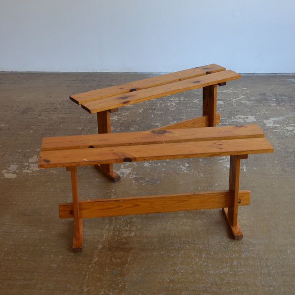 Pair of Pine Benches