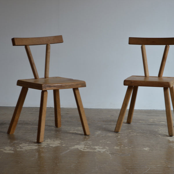 Pair of Rustic Timber Chairs