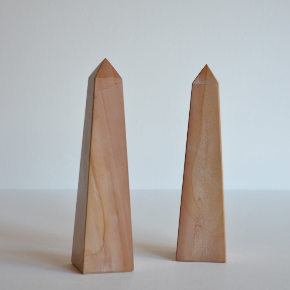 Pair of Marble Obelisks