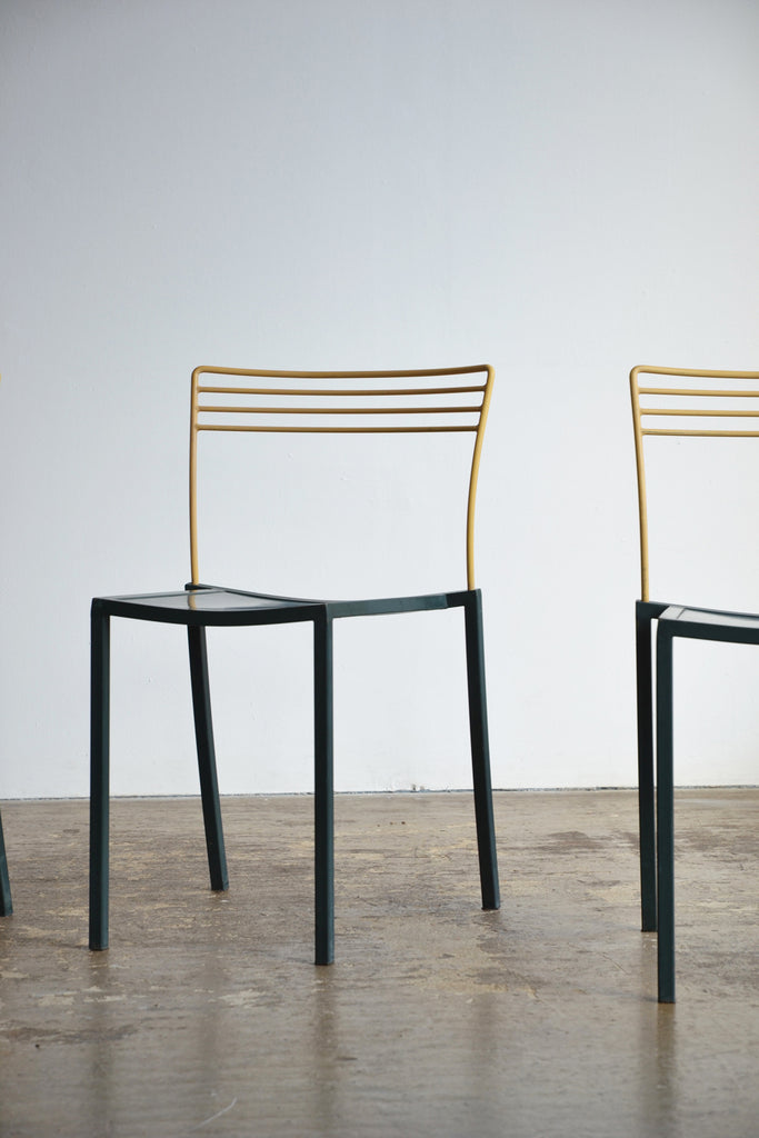 Set of 4 Post Modern Stacking Chairs