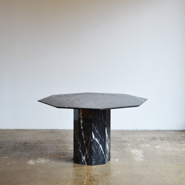 Octagonal Black Marble Dining Table